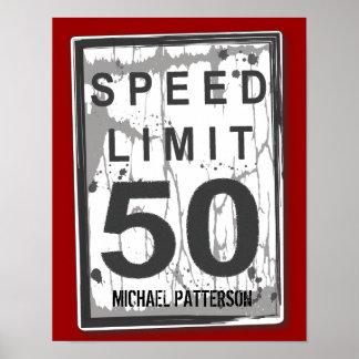 50.o Poster sucio divertido de la muestra del lími Póster