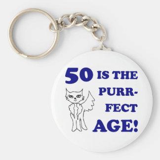 50 o presente de cumpleaños lindo llaveros