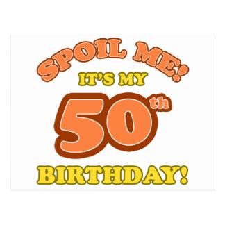 50.o presente de cumpleaños tonto tarjeta postal