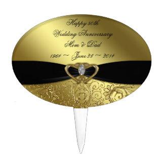 50.o Primero de la torta del aniversario de boda Figuras Para Tartas