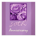 50.o Púrpura de la lavanda de la invitación del Invitación 13,3 Cm X 13,3cm