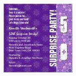 50.o Púrpura moderna de la fiesta de cumpleaños de Comunicados
