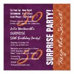 50.o Púrpura y naranja del cumpleaños de la Comunicado Personalizado