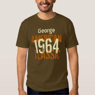 50.o Regalo de cumpleaños 1964 Brown clásico Playera