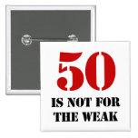 50.o Regalo de la mordaza del cumpleaños Pins