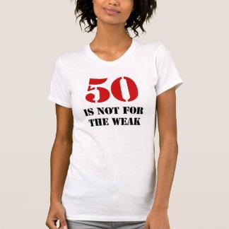 50 o Regalo de la mordaza del cumpleaños Camisetas