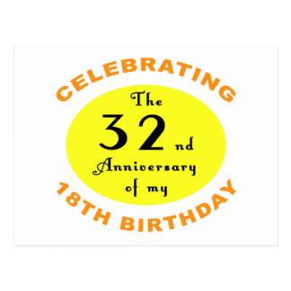 50.o Regalo de la mordaza del cumpleaños Postal