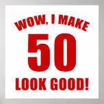 50.o Regalo de la mordaza del cumpleaños (r) Impresiones