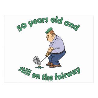50.o Regalo de la mordaza del golfista del cumplea Tarjetas Postales