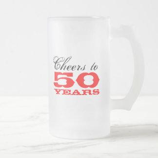 50 o Regalo de la taza de cerveza del cumpleaños p
