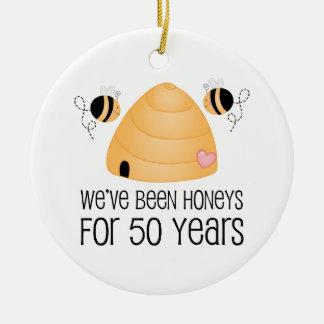 50 o Regalo de los pares del aniversario Ornamente De Reyes
