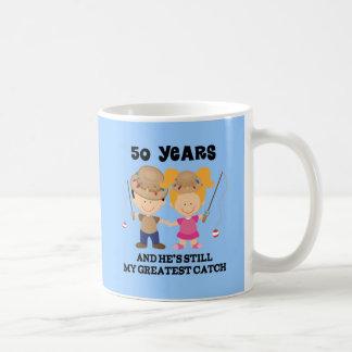 50.o Regalo del aniversario de boda para ella Taza De Café