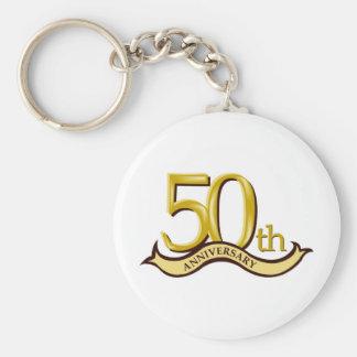 50.o regalo personalizado del aniversario llavero redondo tipo pin