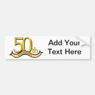 50.o regalo personalizado del aniversario pegatina para auto