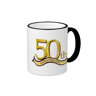 50.o regalo personalizado del aniversario taza a dos colores