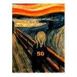 50.o ¡Regalos de cumpleaños, el grito 50! Tarjetas Postales