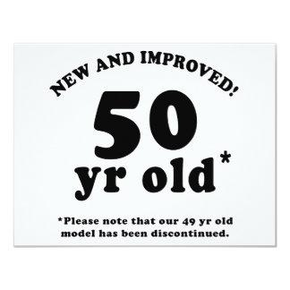50.o Regalos de la mordaza del cumpleaños Invitación 10,8 X 13,9 Cm