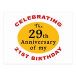 50.o Regalos de la mordaza del cumpleaños Tarjeta Postal