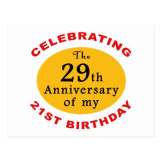 50.o Regalos de la mordaza del cumpleaños Tarjetas Postales