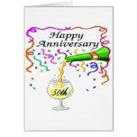 50.o Regalos del aniversario de boda Felicitación