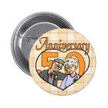 50.o Regalos del aniversario de boda Pins