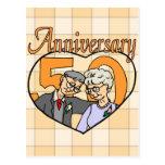 50.o Regalos del aniversario de boda Postales