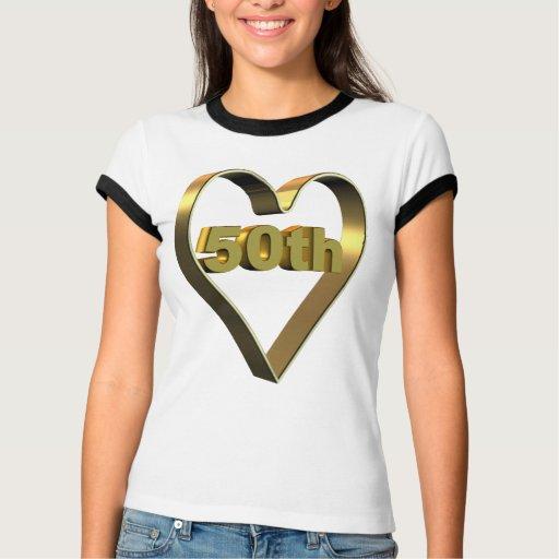 50.o Regalos del aniversario de boda T Shirt