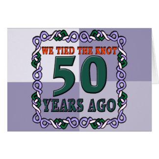 50 o Regalos del aniversario de boda Tarjeton