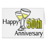 50.o Regalos del aniversario de boda Tarjeta