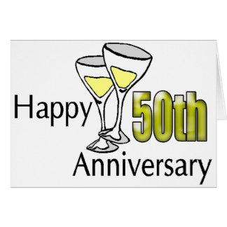 50 o Regalos del aniversario de boda Tarjeta