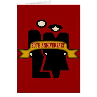 50.o Regalos del aniversario de boda Tarjetón