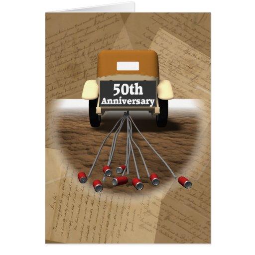 50.o Regalos del aniversario de boda Tarjeta De Felicitación