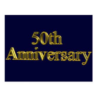 50 o Regalos del aniversario de boda Tarjeta Postal