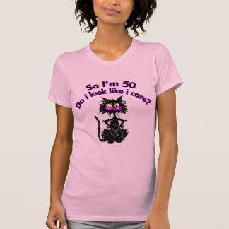 50 o Regalos del gato del cumpleaños Camiseta