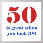 50.o Regalos del humor del cumpleaños Poster