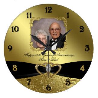 50.o Reloj de pared de la foto del aniversario de