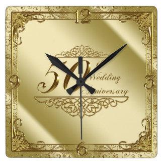 50.o Reloj de pared del aniversario de boda