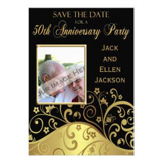 50 o Reserva de la fiesta de aniversario la fecha Anuncio Personalizado
