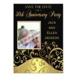 50.o Reserva de la fiesta de aniversario la fecha Invitación 12,7 X 17,8 Cm