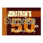 50.o Reserva del cumpleaños de la sorpresa el oro Invitación 12,7 X 17,8 Cm