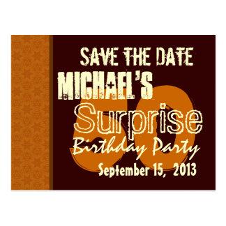 50.o Reserva del cumpleaños de la sorpresa el oro Postal