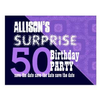 50.o Reserva del cumpleaños de la sorpresa la Tarjeta Postal