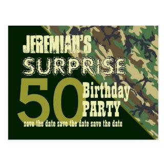 50.o Reserva del cumpleaños de la sorpresa la Tarjetas Postales