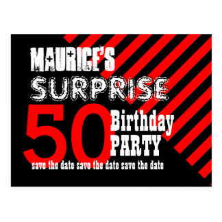 50.o Reserva del cumpleaños de la sorpresa las Tarjetas Postales