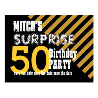 50.o Reserva del cumpleaños de la sorpresa las Postal