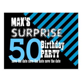 50.o Reserva del cumpleaños de la sorpresa las Tarjeta Postal