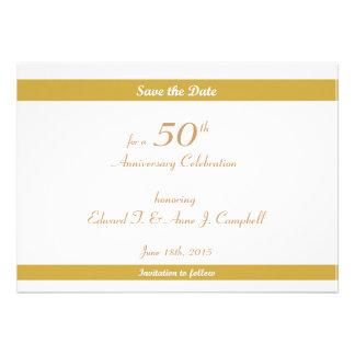 50 o Reserva del cumpleaños del aniversario las fe