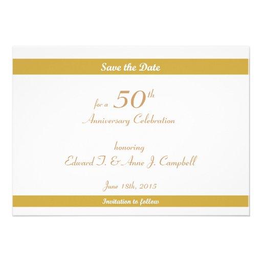 50.o Reserva del cumpleaños/del aniversario las fe Invitaciones Personalizada