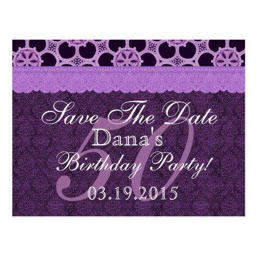 50.o Reserva del cumpleaños el cordón antiguo Tarjeta Postal