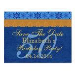 50.o Reserva del cumpleaños el cordón del azul y Tarjetas Postales